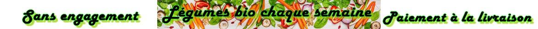 Légumes produits en Agriculture Biologique  à Pachins dans l'Aveyron (FRANCE)